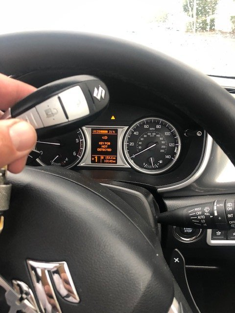 Key Fob Not Detected