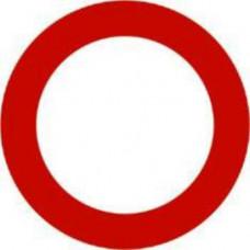 Biển số P.101: Đường cấm; báo đường cấm các loại phương tiện đi lại cả hai hướng, trừ các xe được ưu tiên theo quy định.