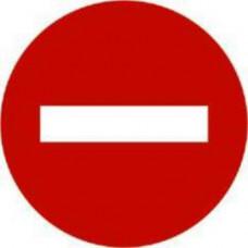 Biển số P.102: Cấm đi ngược chiều; báo đường cấm các loại xe (cơ giới và thô sơ) đi vào theo chiều đặt biển, trừ các xe được ưu tiên theo quy định; người đi bộ được phép đi trên vỉa hè hoặc lề đường.