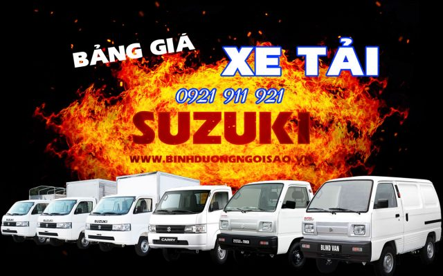 Bảng giá xe tải suzuki 2021